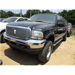2004 FORD F250 PICK UP, VIN/SN:1FTWW21P54ED16109 - 4x4, CREW CAB, POWER STROKE DIESEL ENGINE, A/T, B