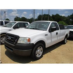 2006 FORD F150 PICKUP, VIN/SN:1FTRF12W86NB71099 - EXT CAB, GAS ENGINE, A/T, ODOMETER READING 90,070