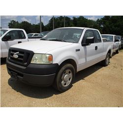 2007 FORD F150 PICK UP, VIN/SN:1FTRX12W87FA68712 - EXTENDED CAB, V8GAS ENG, A/T, ODOMETER READING 15