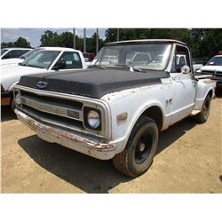 CHEVROLET C10 PICK UP, - GAS ENGINE, 3 SPEED TRANS