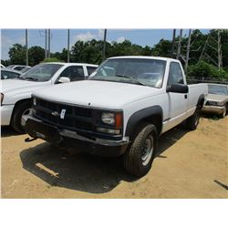 1998 CHEVROLET 2500 PICKUP, VIN/SN:1GCGK24R1W2193101 - GAS ENGINE, A/T, ODOMETER READING 262,729 MIL