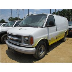 2002 CHEVROLET 3500 EXPRESS CARGO VAN, VIN/SN:1GCHG35R421158815 - GAS ENGINE, A/T, ODOMETER READING
