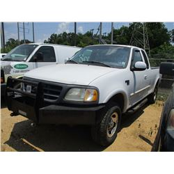 2001 FORD F150 PICK UP, VIN/SN:1FTRX18L81MA89019 - 4x4, EXTENDED CAB, V8 GAS ENGINE, A/T, ODOMETER R