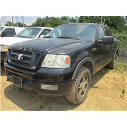 2004 FORD F150 FX4 PICK UP, VIN/SN:1FTPW14594KC30932 - 4X4, CREW CAB, V8 GAS ENGINE, A/T, TOOL BOX,
