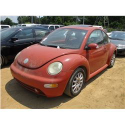 2005 VOLKSWAGON BEETLE, VIN/SN:3VWCK31C25M407885 - GAS ENGINE, A/T, ODOMETER READING 114,535 MILES