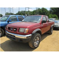 2000 NISSAN FRONTIER PICK UP, VIN/SN:1N6ED26T8YC409586 - EXT CAB, GAS ENGINE, 5 SPEED TRANS, ODOMETE