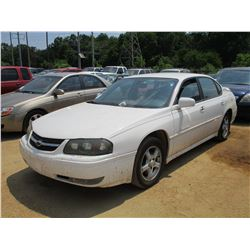 2004 CHEVROLET IMPALA, VIN/SN:2G1WH52K949152121 - GAS ENGINE, A/T