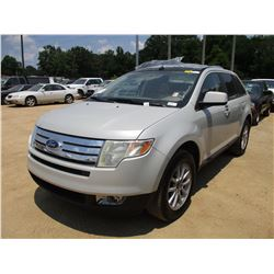 2007 FORD EDGE VIN/SN:2FMDK39C87BA29289 - GAS ENGINE, A/T, ODOMETER READING 176,618 MILES