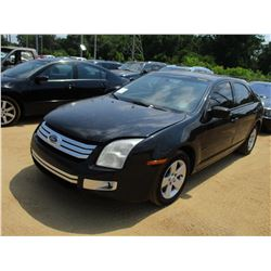 2006 FORD FUSION VIN/SN:3FAFP07Z76R208935 - GAS ENGINE, A/T, ODOMETER READING 67,021 MILES