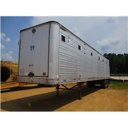 GREAT DANE CHIP TRAILER, - CLOSED TOP, 40' LENGTH, HALF GATE, 11R24.5 TIRES