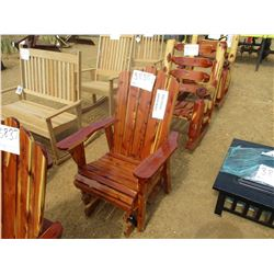RED CEDAR GLIDER CHAIR