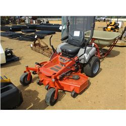 HUSQVARNA ZERO TURN LAWNMOWER, VIN/SN:054563860 - 60""