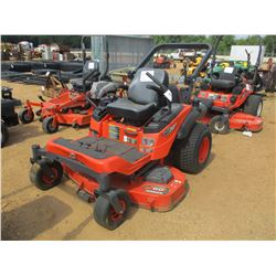 "KUBOTA ZG327 MOWER, - ZERO TURN, GAS ENGINE, 60"" MOWER DECK, ROLL BAR, METER READING 564 HOURS"