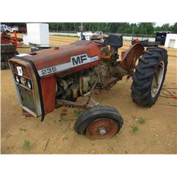 MASSEY FEURGEUSON 235 FARM TRACTOR, VIN/SN:9A221394 - 3 PTH, PTO, DIESEL (DOES NOT RUN)