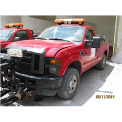2010 FORD F250 PICKUP, VIN/SN:1FTNF285XAEA55195 - 4X4, LWB, MANUAL TRANS, WARN FRONT BUMPER, BLADE,