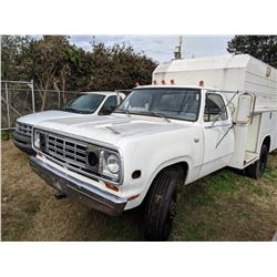 1974 DODGE POWER WAGON, VIN/SN:W31BE4S075460 - 4X4, DUALLY, GAS ENGINE, 4 SPD TRANS, READING CUSTOM