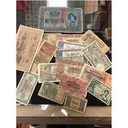 WORLD BANKNOTE LOT.EARLY 1900,s