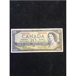 1954 BANK OF CANADA $20 NOTE!