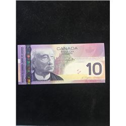 2005 BANK OF CANADA $10 RADAR NOTE!