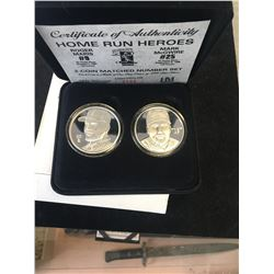 HIGHLAND MINT ROGER MERIS AND MARK McGWIRE SILVER SET!