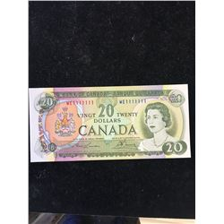1969 BANK OF CANADA $20 SOLID # RADAR NOTE!