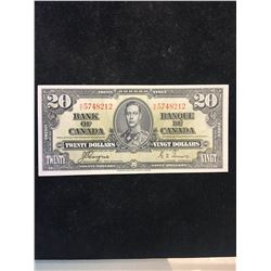 1937 BANK OF CANADA $20 NOTE! UNC