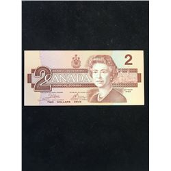 1986 BANK OF CANADA $2 RADAR NOTE!