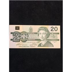 1991 BANK OF CANADA $20 RADAR NOTE!