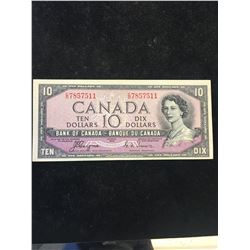 1954 BANK OF CANADA $10 DEVILS FACE NOTE!