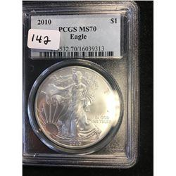 2010 USA EAGLE! PCGS MS-70!