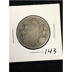 1872H CANADA 50 CENTS!