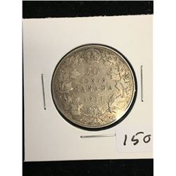 1911 CANADA 50 CENTS!KEY DATE!