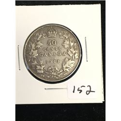 1913 CANADA 50 CENTS!