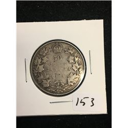 1914 CANADA 50 CENTS!KEY DATE!