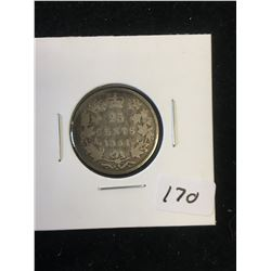 1881H CANADA 25 CENTS!