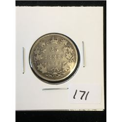 1886 (6/6-2) CANADA 25 CENTS!