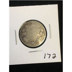 1887 (KEY DATE)CANADA 25 CENTS.