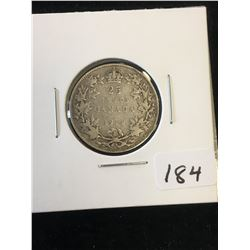 1914 CANADA 25 CENTS!