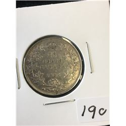 1936 CANADA 25 CENTS