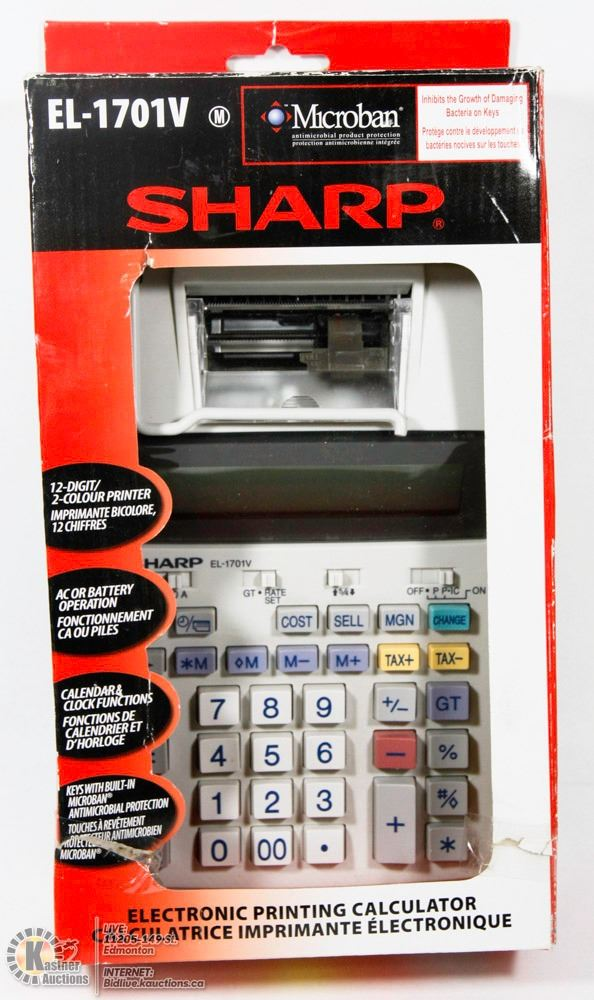 sharp el 1701v electronic printing calculator rh liveauctionworld com