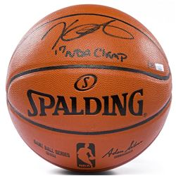 Kevin Durant Signed Spalding Game Ball Series Basketball Inscribed