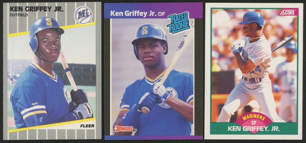 Image 1 Lot Of 3 Ken Griffey Jr Rookie Cards With 1989