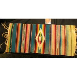 """8 1/2"""" x 20"""" Indian Woven Table Scarf."""