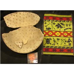 San Carlos prehistoric red on buff geometric design bowl fragments in as found condition; & Old toba