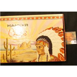 """""""Hanker Chiefs"""" Cigar style Box with several small Indian Beaded items."""