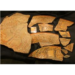 Large platter or plate of Pre-Columbian Origin, appears to be Mexico Aztec or Mayan style design. Th