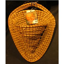 Pine Needle Indian Wall Pocket Basket.