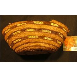 "North West American Indian Basket. 6 1/2""."