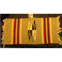 "9 1/2"" x 20"" Woven Indian design Table Rug."