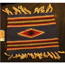 "7 1/2"" x 9 1/2"" Woven Indian design Table Rug."